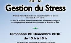 Atelier Sophrologie sur la Gestion du Stress le 20 décembre 2015